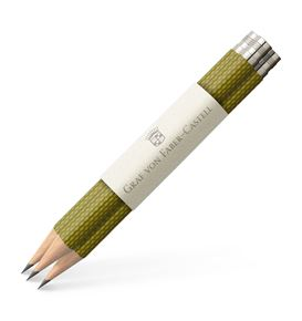 Graf-von-Faber-Castell - 3 spare pencils Perfect Pencil, Olive Green