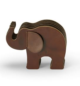 Graf-von-Faber-Castell - Pen holder Elephant Large, dark brown